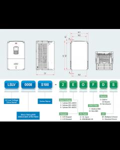 VFD, 40hp, 61A, IP20, 3 Phase, 380-480VAC