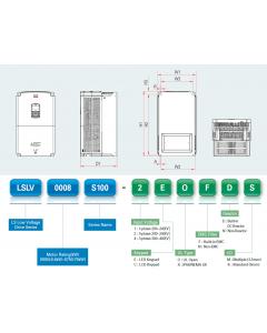VFD, 75hp, 110A, IP20, 3 Phase, 380-480VAC