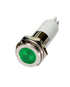 Pilot Light, 8mm, Round, Green LED, 110V AC