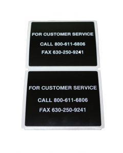 "Custom Raised Panel Label, 3"" x 2 1/2"""