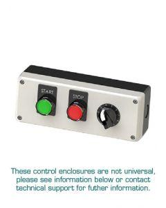 Pushbutton Enclosure Kit, 3 Button, Assembled