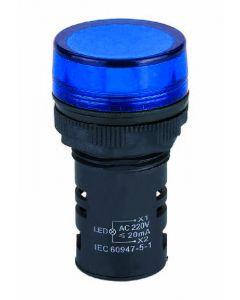 Indicator Light, Flat lens, Blue