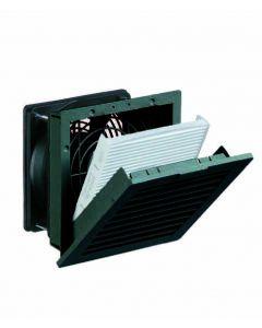 Filterfan, NEMA 12, 115VAC, 38 CFM, Black Grill