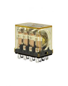Ice Cube Relay, 240VAC, 4 Pole, 4PDT, Blade