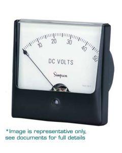 """Analog Panel Meter, Wide-Vue, 3.5"""", 0-50AC,"""