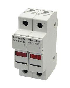 Fuseholder, 30 Amp Class CC, 2 Pole,  LED, IP20