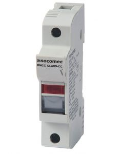Fuseholder, 30A Class CC, 1 Pole, With LED, IP20