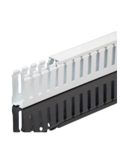 """Wire Duct, Open Slot, White, 1.5 x 4"""" (WxH)"""