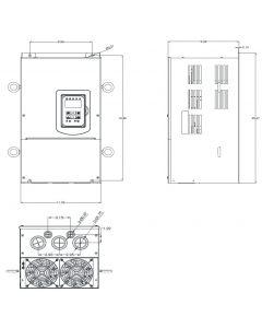 AC Drive, 40hp, 460V, 3 Phase, IP20/NEMA 1