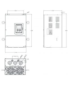 AC Drive, 50hp, 460V, 3 Phase, IP20/NEMA 1