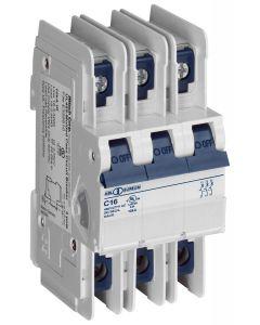 Circuit Breaker, 3 Pole, D-Curve, 25 Amp, UL489